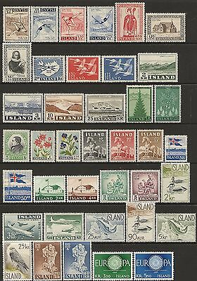 Iceland 1955-65 stamps (93) + (1) M/S SG 328-429 & MS391 MNH cat £116