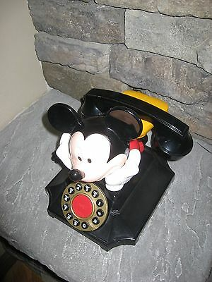 Vintage Style Phone Telemania Disney Mickey Mouse Desk Telephone By Segan