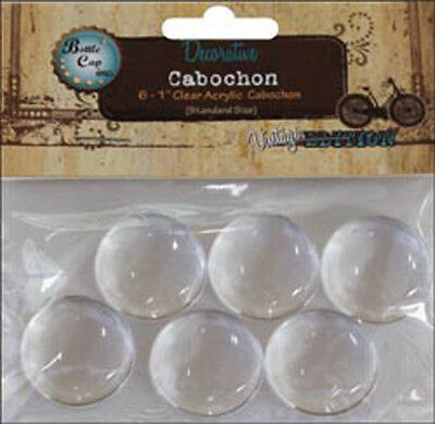 "Round - Vintage Collection Acrylic Cabochons 1"" 6/Pkg"