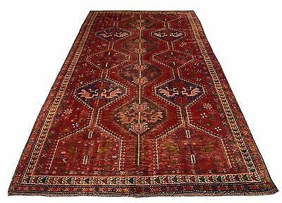 Hand Knotted Semi Antique Persian Yalameh Wool Rug 9x4 Ft (459AA)