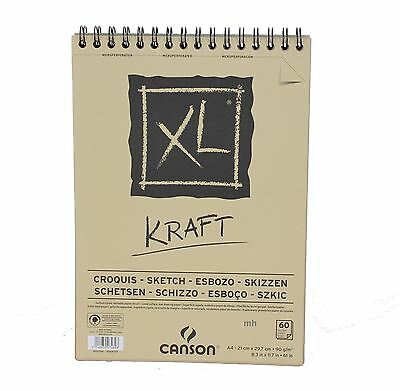 Canson XL Kraft A4 60 page brown paper sketch pad