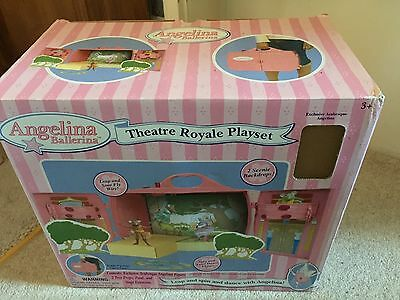 New Boxed Angelina Ballerina Theatre Playset Dance Ballet Pink