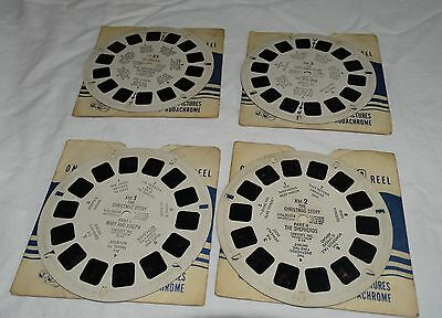 Vintage 4Sawyer's View-Master Reels-The Cristmas Story 1,2 & 3 Plus Rudolph