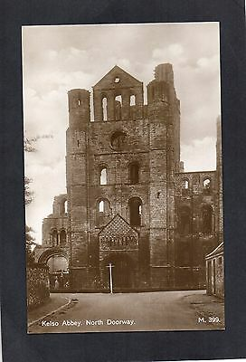 Kelso Abbey North Doorway. Real Photo Postcard