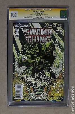 Swamp Thing (2011 5th Series) #1A CGC 9.8 SS (1233091002)