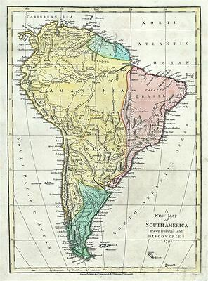 1793 Wilkinson Map of South America