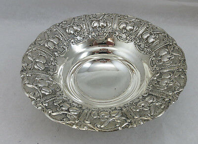 Sterling Silver 925 Fruit Candy Nut Dish Bowl 104 Grams