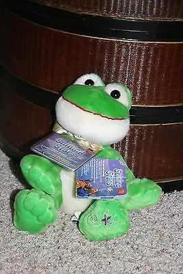 NEW Russ Shining Stars Plush Green Frog with Code and Tags NWT  #L2