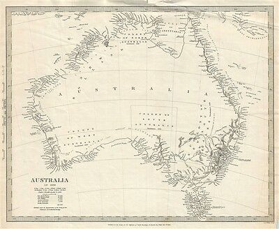 1840 S.D.U.K. Subscriber's Edition Map of Australia