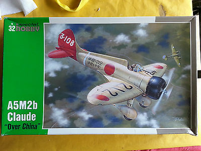 Mitsubishi A5M2 model 2 Claude 'Over China' Model kit in 1/32 scale Sp. Hobby