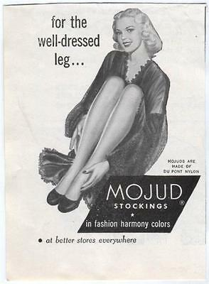1940s Ladies Hosiery 1948 Vintage MOJUD STOCKINGS Du Pont Nylon Advertisement Ad