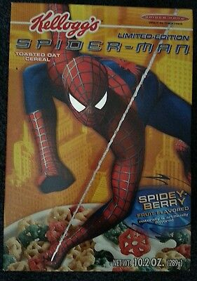 2002 and 2004 SPIDER-MAN Movie Kellogg's Cereal Boxes, empty  USED