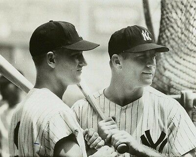 1960s New York Yankees MICKEY MANTLE ROGER MARIS 8X10 PHOTO PICTURE 0131