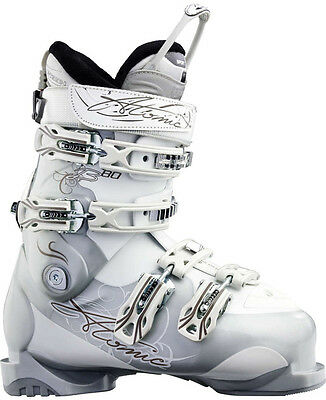 Atomic B 80 Womens Downhill Ski Boots NEW sz 6 Mondo 22.5 B80 White