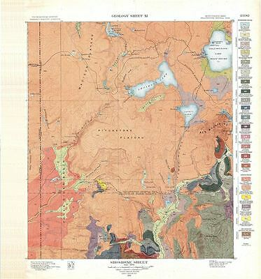 1904 USGS Geologic Map of Shoshone, Yellowstone National Park