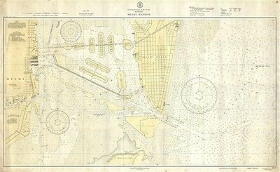 1938 U.S. Coast and Geodetic Survey Map of Miami Beach
