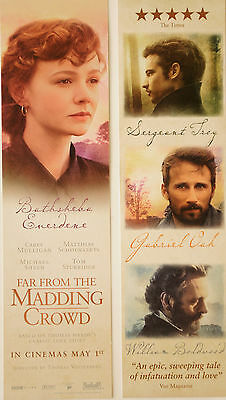 2 Far From The Madding Crowd Film Bookmarks  Cary Mulligan Matthias Schoenaerts