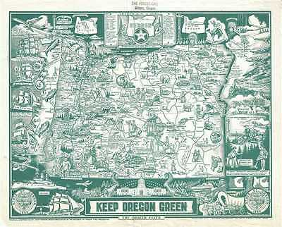 1967 Hayes Pictorial Map of Oregon