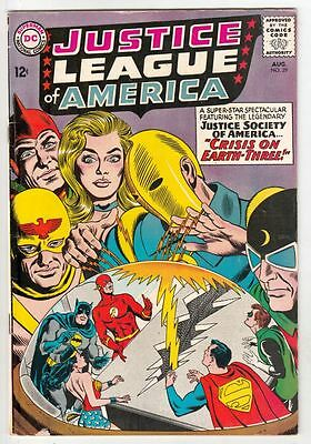 Justice League of America 29 Strict  FN+ 6.5 3rd Crisis issue & 1st Earths III