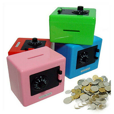 Gift for Children Lock Money Box Code Safe Coin Cash Funny Saving Piggy Bank