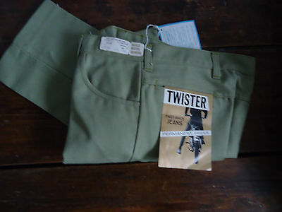 NOS VTG 60s MOD DEADSTOCK TAPERED TWISTER BOYS TEEN JEANS PANTS 28x28 RAB USA