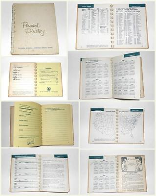 1960s 1963 Vintage Bell Telephone Co. Pennsylvania Personal Directory w Calendar