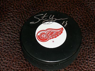 Steve Yzerman Signed Detroit Red Wings Puck From An All-Star Game 100% Authentic