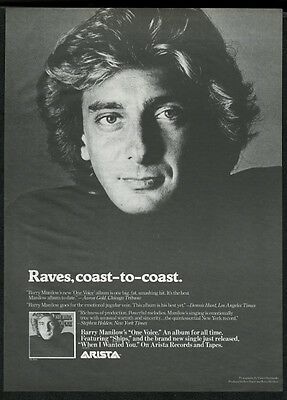 1979 Barry Manilow photo One Voice music trade print ad