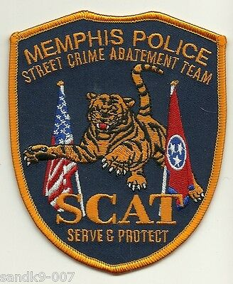 SCAT Memphis Police Street Crimes Jump Out Unit State of TENNESSEE TN TIGER