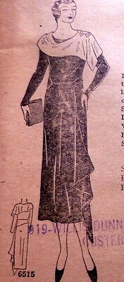 RARE VTG 1930s DRESS Ladies Home Journal Sewing Pattern 16/34 OLD DEADSTOCK