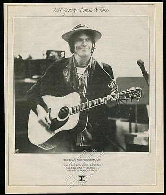 1978 Neil Young photo Comes A Time album release vintage ad
