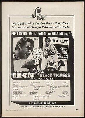 1976 Lola Falana photo Black Tigress movie trade ad