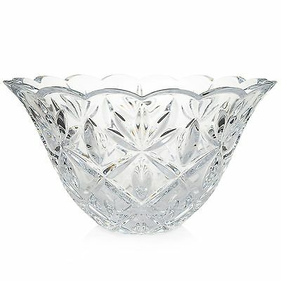 """Waterford Crystal Sara 10"""" Cross Cut & Scalloped Flared Bowl NEW 2nd"""