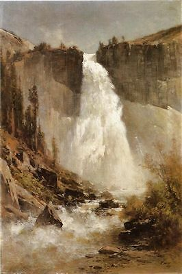 Thomas Hill The Falls of Yosemite Oil Painting repro