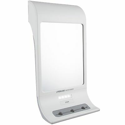 Z'Fogless Water Mirror w/ LED Light And Tri-Accessory Holder NEW