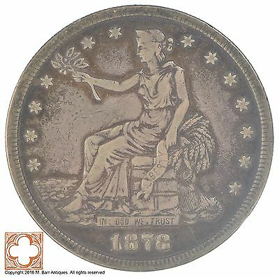 1878-S Trade Seated Liberty Silver Dollar *XB02