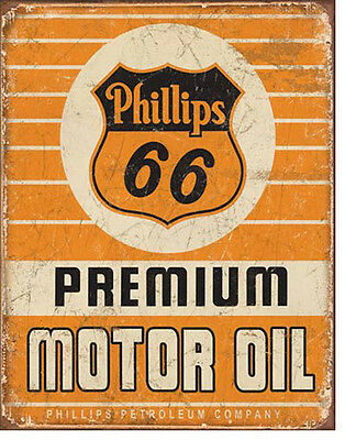 Philiips 66 Sign Motor Oil Rustic Vintage Tin Advertising Metal Made in USA New