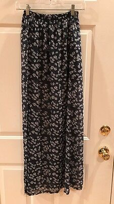 ABERCROMBIE & FITCH Elastic-Waist Floral Maxi Skirt S NEW! NWT