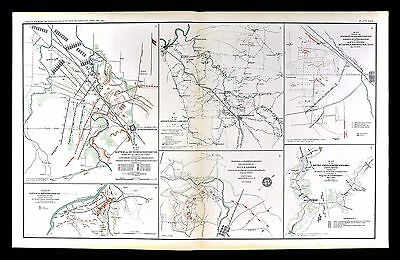 Civil War Map - Battle of Murfreesborough - Murfreesboro Nashville - Tennessee