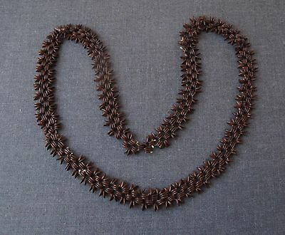 Vintage Ethnic Brown Seeds Beaded Necklace