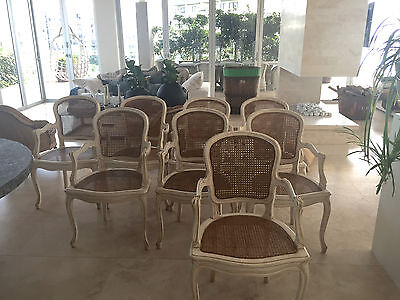 8 x COUNTRY TRADER STUNNING REPLICA LOUIS XVI DINING CHAIRS 2 $5200