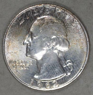 1962 Washington Quarter Dollar Silver Coin