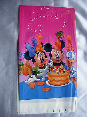 Plastic Tablecover Children  Kids Boys Birthday Party  Tableware Mickey Mouse