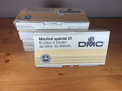 Lot Of 100 Skeins DMC Mouline Special 25 Embroidery Floss Thread 6 Strands