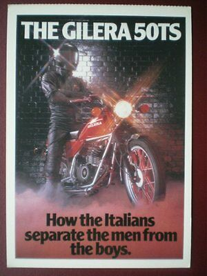 Postcard The Gilera 50Ts Motor Cycle - How The Italians Separate The Men From Th