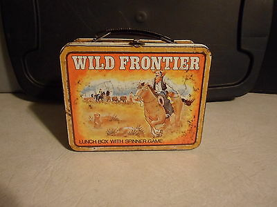 wild frontier lunchbox with spinner game