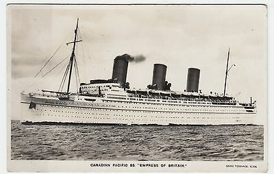 SS EMPRESS OF BRITAIN - Canadian Pacific Shipping Line - c1930s era postcard