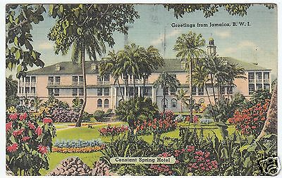 JAMAICA - Constant Spring Hotel - St Andrew - West Indies - 1946 used postcard