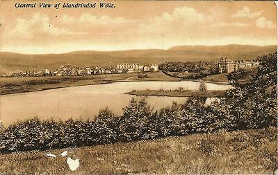 Llandrindod Wells - General View - vintage Posted Postcard