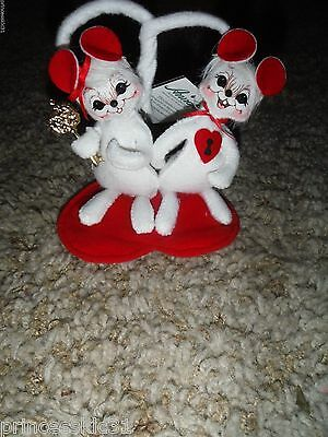 Annalee Valentine Mice Key to my Heart Mouse Pair MWTS 2008